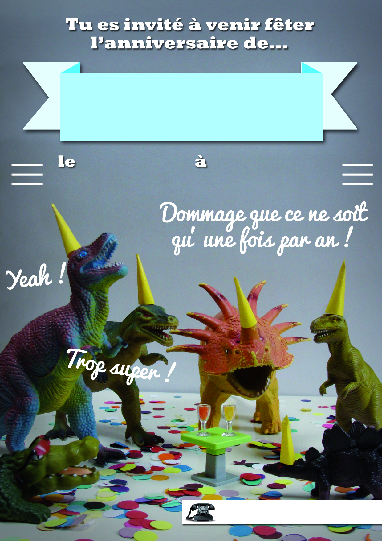 carte anniversaire dinosaure a telecharger pouic pouic. Black Bedroom Furniture Sets. Home Design Ideas